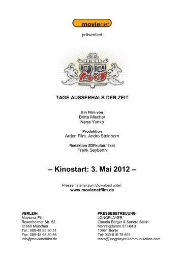 – Kinostart: 3. Mai 2012 – - Movienet Film GmbH