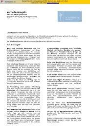 Verhaltensregeln nach Operationen (PDF) - Dr. Alexander Jung