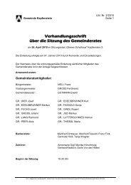 Verhandlungsschrift über die Sitzung des Gemeinderates