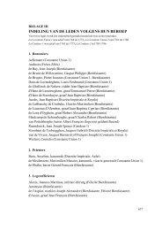 Bijlage III. Indeling van de leden volgens hun - Liberaal Archief