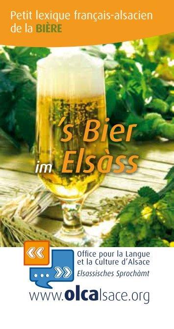 's Bier im Elsàss - Olca