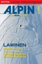 01/2008 Lawinen: Risikomanagement - Alpin.de