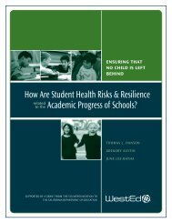 How Are Student Health Risks & Resilience Academic ... - WestEd