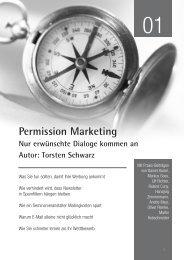 Permission Marketing Nur erwünschte Dialoge kommen an ... - Absolit