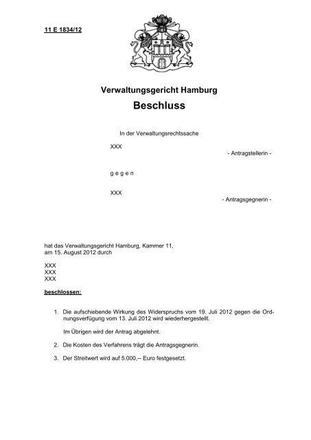 Verwaltungsgericht Hamburg