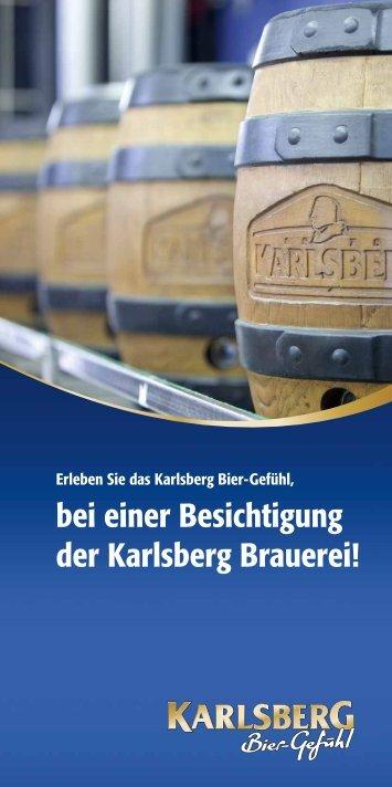 bei einer Besichtigung der Karlsberg Brauerei!