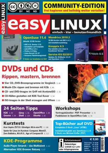 DVDs und CDs - EasyLinux