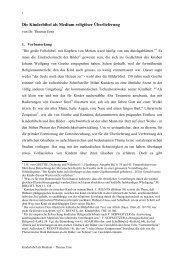 Die Kinderbibel als Medium religiöser Überlieferung - Institut für ...