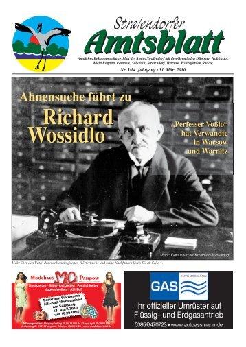 Ahnensuche führt zu Richard Wossidlo Richard ... - Amt Stralendorf