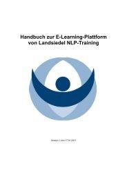 Handbuch zur E-Learning-Plattform von Landsiedel NLP-Training