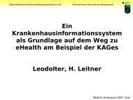 Ein Krankenhausinformationssystem als Grundlage auf dem Weg zu ...