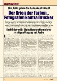 Der Krieg der Farben... Fotografen kontra Drucker - X-Media