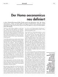 Der Homo oeconomicus neu definiert - Forum