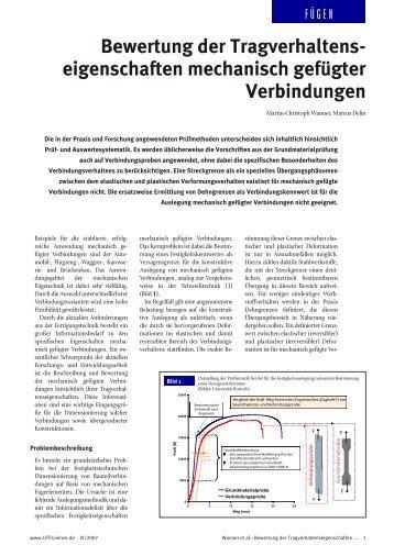 Bewertung der Tragverhaltens eigenschaften ... - Umformtechnik