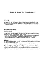 Protokoll von Versuch 12/3: Prismenspektralapparat