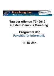 TdoT 2012 Programm Fakultaet fuer Informatik - Fakultät für ...