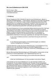 Die neue Erdbebennorm DIN 4149 - TU Dortmund