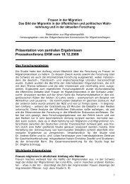 Frauen im Migrationskontext - Eidgenössische Kommission für ...