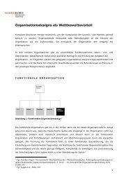 Organisationsdesigns als Wettbewerbsvorteil