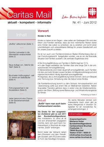 Caritas Mail Nr. 41 Juni 2012 - Caritas Bruchsal eV
