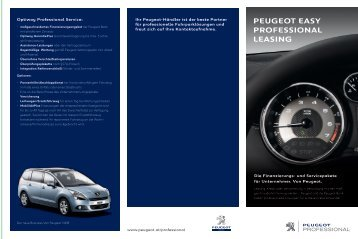 Peugeot easy Professional leasing