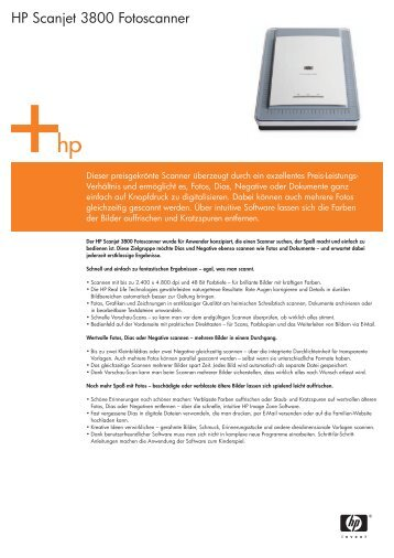 HP Scanjet 3800 Fotoscanner - DiTech