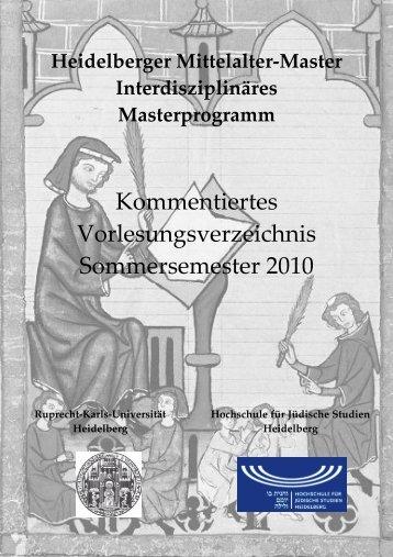 Sommersemester 2010 - Heidelberg Mittelalter Master - Uni.hd.de