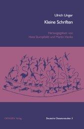 Kleine Schriften - Deutsche Ostasienstudien