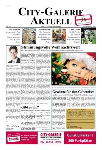 GALERIEAKTUELL 29. November 2012 Seite 2 - City Galerie ...