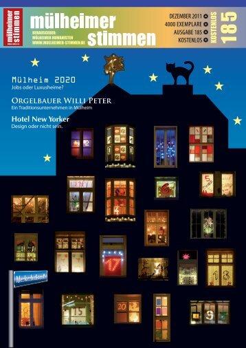 Orgelbauer Willi Peter - Mülheimer Stimmen