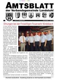 Sonstige Bekanntgaben u. Mitteilungen - Verbandsgemeinde ...