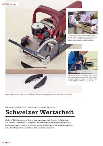 Schweizer Wertarbeit - Lamello