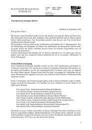 Ferien und schulfreie Tage Schuljahr 2010/2011 - Staatliche ...