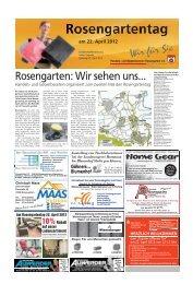 Am Rosengartentag 22. April 2012 10%Rabatt auf ... - Haller Tagblatt