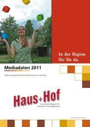 Mediadaten 2011 In der Region für Sie da. - Jäger Medienverlag