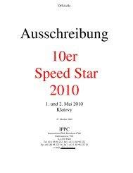 Ausschreibung 10er Speed Star 2010 - Pink Skyvan