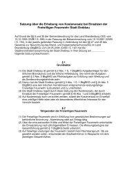 Satzung über die Erhebung von Kostenersatz bei ... - Stadt Drebkau