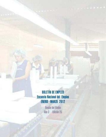 boletin de empleo enero - marzo 2012 edicion 25 - INE BÍO-BÍO
