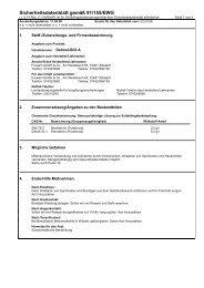 Sicherheitsdatenblatt gemäß 91/155/EWG