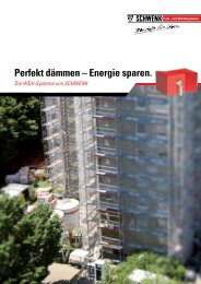 Perfekt dämmen - SCHWENK Putztechnik GmbH & Co. KG