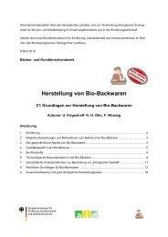 Herstellung von Bio-Backwaren - Oekolandbau.de