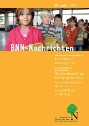 BNN-Nachrichten Dezember 2007 - BNN Herstellung und Handel eV