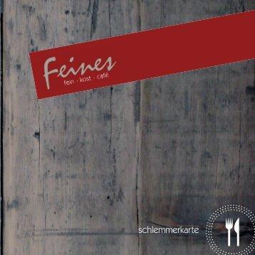 schlemmerkarte - Feines