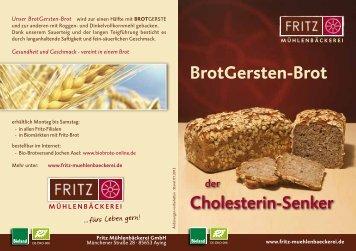 BrotGersten-Brot Flyer - Fritz Mühlenbäckerei