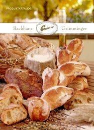 PRODUKTKATALOG - Backhaus Grimminger GmbH