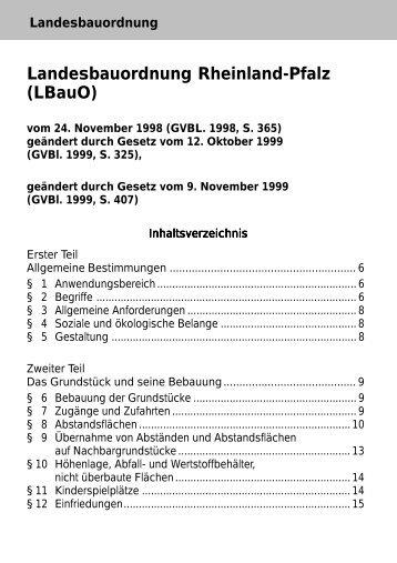Landesbauordnung Rheinland Pfalz Lbauo Feuerschutz Holt