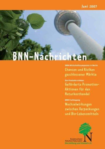 BNN-Nachrichten - BNN Herstellung und Handel eV