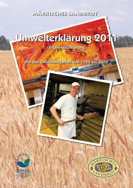 Umwelterklärung 2011 - Märkisches Landbrot