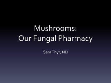 Mushrooms - The Fungal Pharmacy