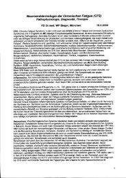 Neuroendokrinologie der Chronischen Fatigue (CFS)
